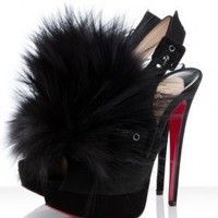 Christian Louboutin Splash Fur 150mm Pumps