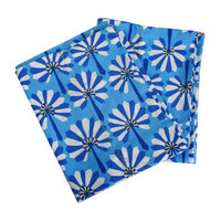 Blue Fans Pillowcases (s/2)