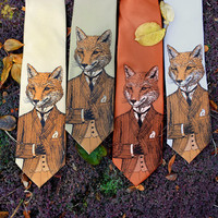 Dapper Fox Men's Tie - Men's Fox Necktie