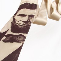 Abraham Lincoln Men's Tie - Sepia Tie