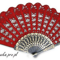 RED hand fan or any colour you want for Bride and by kroowka