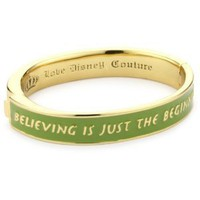 Amazon.com: Disney Couture Tinker Belle Gold Plated Hinged Bangle Bracelet With Quote: Jewelry