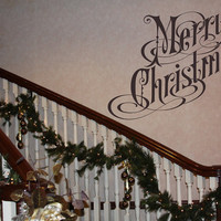 Merry Christmas Removable Vinyl Wall Decal 22117