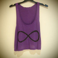 COSMIC RAY clothing  &#x27;INFINITY&#x27; Purple Crop Top