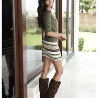 FAIR ISLE SWEATER MINI SKIRT