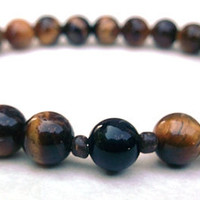 Men's Tiger Eye Bracelet, Men's Bracelet, Gemstone Bracelet, Gift for Him, Mens Gift,  Classic Men's Jewelry