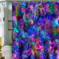 DENY Designs Home Accessories | Lisa Argyropoulos Colour Aquatica Berry Blue Shower Curtain