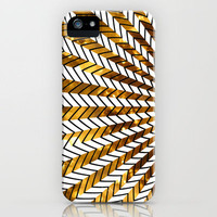 Low Peeks In Gold iPhone Case by Ornaart | Society6
