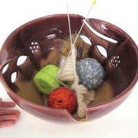 Yarn bowl JUMBO Extra Large KNITTING Ceramic Yarn Bowl Organizer