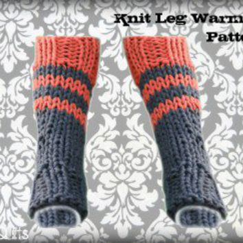 Knit Leg Warmers Knee High Boot Socks from losangelesneedlework.c