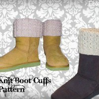 Knit Boot Cuffs Pattern | Los Angeles Needlework