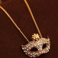 Opera Mask Fashion Necklace  | LilyFair Jewelry