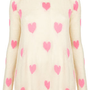 Knitted Multi Hearts Jumper - Knitwear  - Apparel