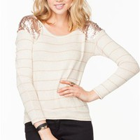 A'GACI Sequin Shoulder Lurex Long Sleeve - New Arrivals