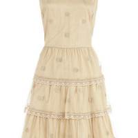 Oasis Dresses | Camel Mesh Collared Dress | Womens Fashion Clothing | Oasis Stores UK