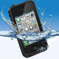 iPhone 4 4S Case Cover Life+ Proof Waterproof Dust+proof black
