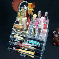 Cosmetic organizer makeup drawers organizer Acrylic clear Luxury Display B3