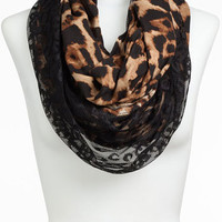 Lulu Animal Print & Lace Infinity Scarf (Juniors) (Online Only)