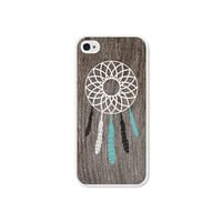 Dreamcatcher Apple iPhone 5 Case - Plastic iPhone 5 Cover - Wood Tribal Southwest iPhone 5 Skin - Turquoise Brown White Cell Phone