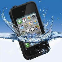 Waterproof iphone 4 4S Case life shock proof Black. New in Box. No Reserve!