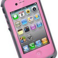 pink LIFEPROOF Water, Dirt,and Shock proof case for iPhone4 and 4s second gen