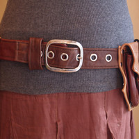 One of kind double hip pocket belt with front and back by Kradwear