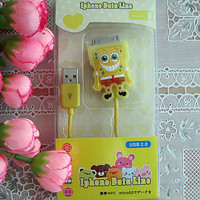 SpongeBob USB Data Sync Charger Cable 4 iPod iPhone