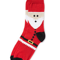 Red Santa Pattern Socks - View All  - New In