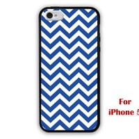iPhone 5 Case, chevron iphone 5 case, blue chevron iphone 5 case, geometric graphic iphone case