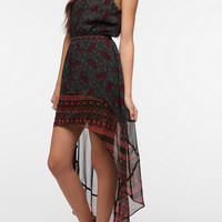 Ecote Crepe Paisley High/Low Dress