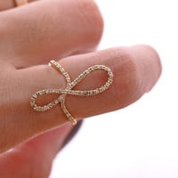 sideways INFINITY ring, in gold | girlsluv.it