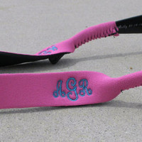 Monogrammed Personalized Croakies Sunglasses Strap 11 Colors to choose from