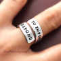 To infinity and beyond ring, Custom Ring, Personalized Ring, Infinity ring, Best friends gifts, Twist ring, wrapped ring, Adjustable ring