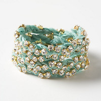 Sparkled Silk Wrap Bracelet