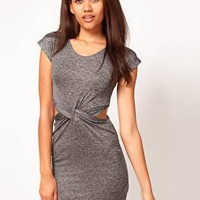 River Island Twist Waist Jersey Dress at asos.com