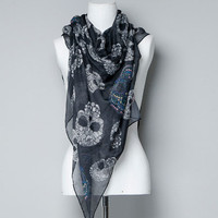 SKULL-PRINT SCARF - Accessories - TRF - ZARA United States