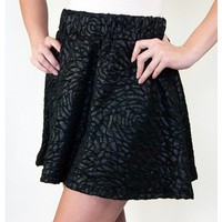 Textured Floral Skater Skirt | Sugar and Sequins