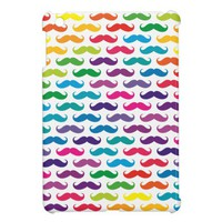 Multicolored Mustache Patterned iPad Mini Case from Zazzle.com