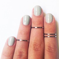 4 Above The Knuckle Rings - Chrome .. on Luulla