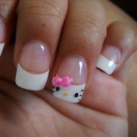 Nails nails nails!! / hello kitty