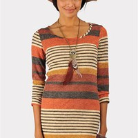Wild Stripes Dress - Rust at Necessary Clothing