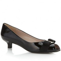 SALVATORE FERRAGAMO Ribes Patent Court Shoe