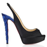 Christian Louboutin Plisseta 140 Satin Peep-toes   $187,distinguished shoes brand on-line shop, such as christianlouboutin,Alexander McQueen,louboutins.