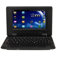 "New 7"" VIA 8650 Mini Netbook Laptop Android 2.2 800MHz 256MB 4GB Wifi Black"