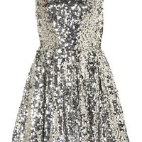 Sequin Skater Dress - Dresses  - Apparel