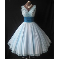 1950s Fred Perlberg chiffon prom dress - Star Bridal Apparel