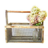 Vintage Primitive Cranberry Bog Basket
