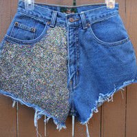 Glitter High Waisted Shorts