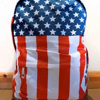 American flag, stars and stripes backpack/rucksack