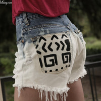 Nala - Tribal shorts - Ombre shorts